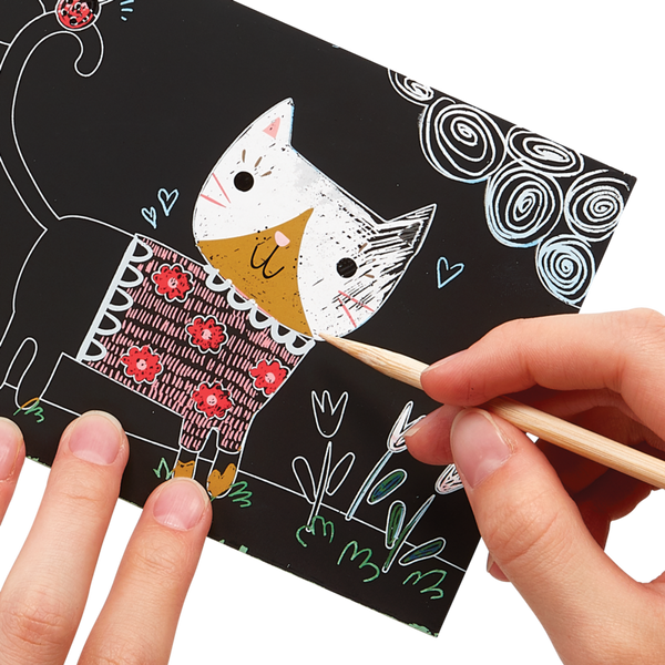 OOLY - Cutie Cats Scratch and Scribble Mini Kit