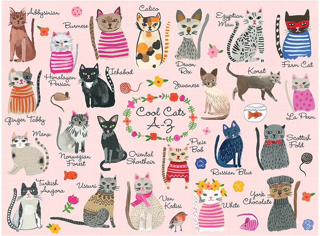 Cool Cats A-Z Piece - 1000 Piece