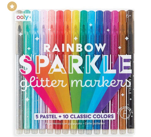 OOLY - Rainbow Sparkle Glitter Markers