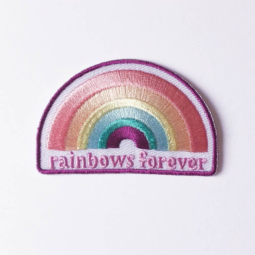 August Ink - Rainbows Forever Iron On Patch