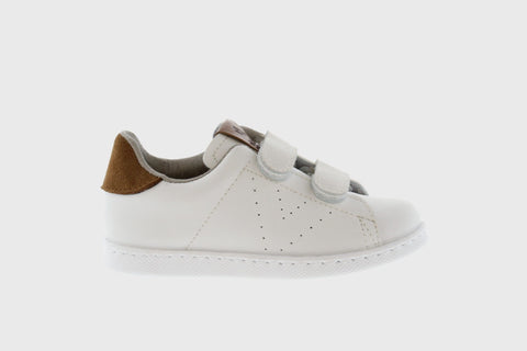 Victoria Shoes - Classic Nylon Velcro Sneakers - Blanco