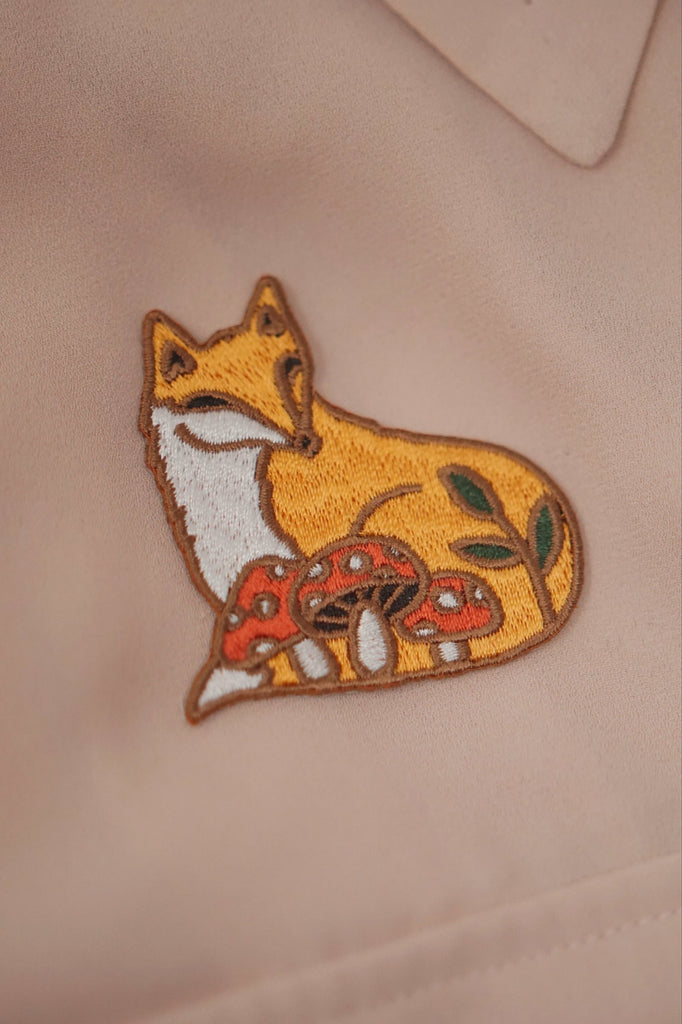 Justine Gilbuena - Tiny Iron On Patch - Fox