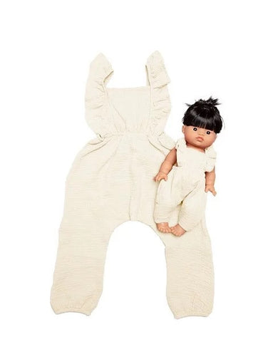 Minikane - Collection Duo - Maya Jumpsuit - Gauze Ecru