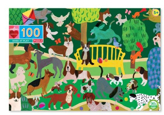 eeBoo - Dogs at Play Puzzle - 100 Piece