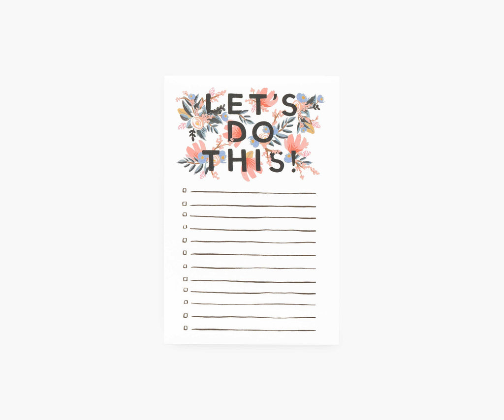Rifle Paper Co. - Let's Do This Notepad