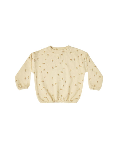 Rylee + Cru - Little Flower Slouchy Pullover - Butter