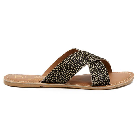 Matisse - Strappy Slide Sandal - Pebble Black Spot