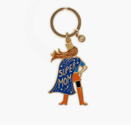 Rifle Paper Co. - Super Mom Enamel Keychain