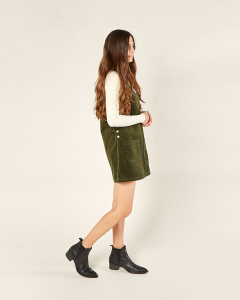 Rylee + Cru - Overall Dress - Forest