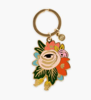 Rifle Paper Co. - Rosa Floral Enamel Keychain