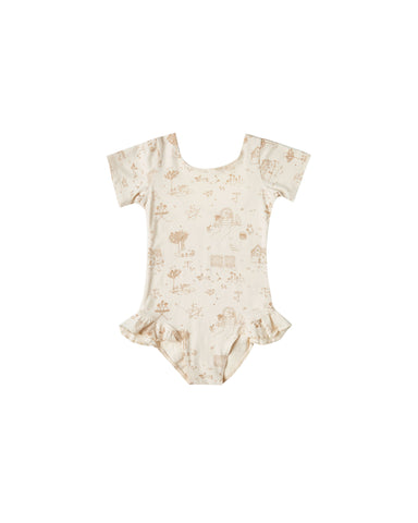 Rylee + Cru - Secret Garden Leotard - Natural