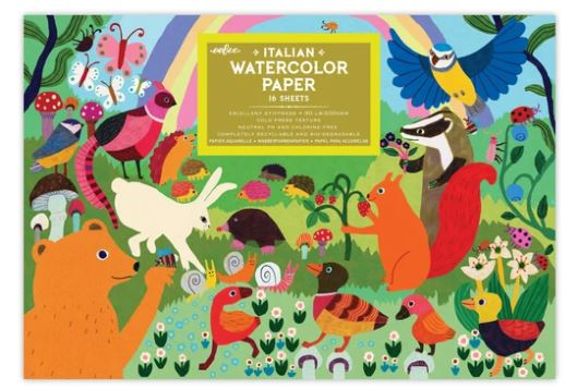 eeBoo - Woodland Rainbow Watercolor Pad