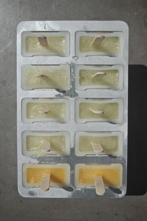 Ginger Gin Cucumber Ice Blocks