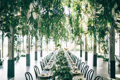 Green Installation Wedding