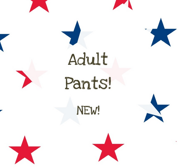 Adult Pajama Patriotic Pants