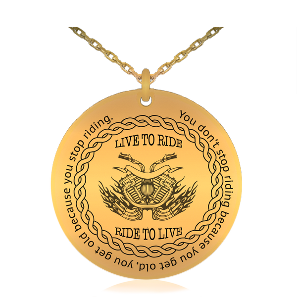 Live To Ride Biker Necklace