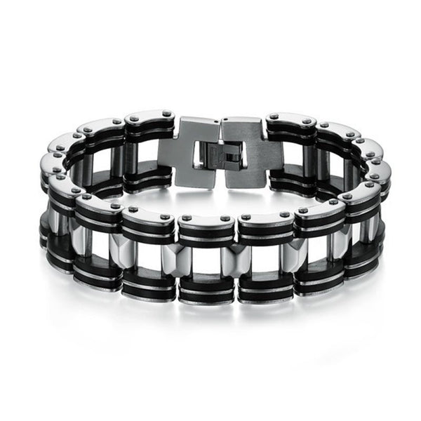 Silver Motorcycle Chain Bracelet
