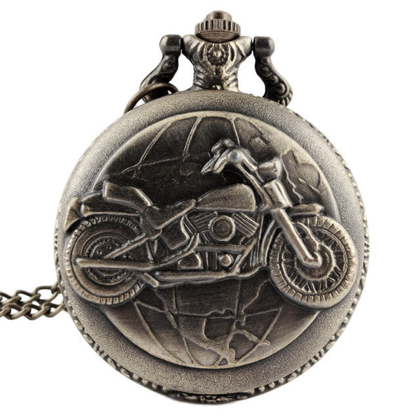 Vintage Motorcycle Pocket Watch