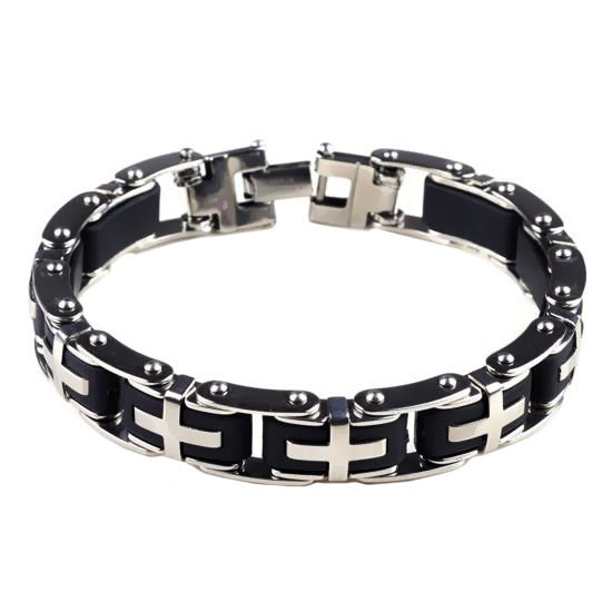 Black Motorcycle Chain Braclet