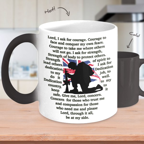 Soldier's Prayer Heat Mug