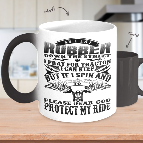 Biker's Prayer Heat Mug