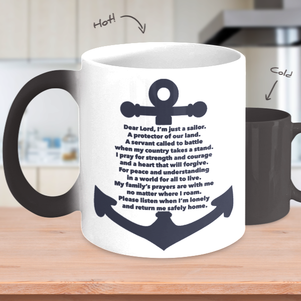 Sailor's Prayer Heat Mug