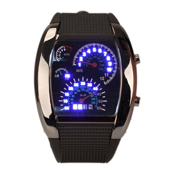 Biker Speedometer LED Wristwatch