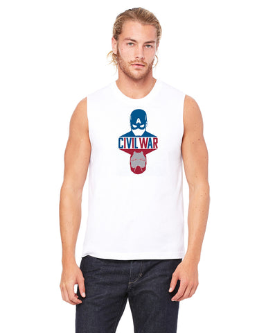 Captain America Civil War - Mens Muscle Tank