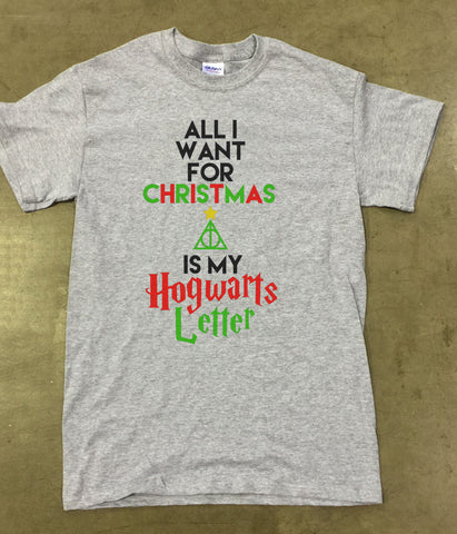 All I want for Christmas Hogwarts Letter