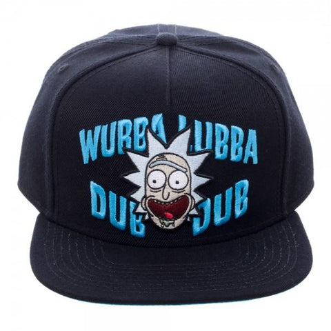 Rick and Morty Wubba Black Snapback