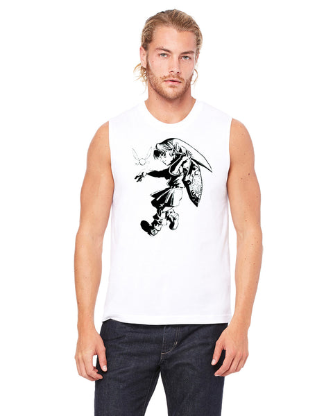Link and Tatl - Mens Muscle Tank