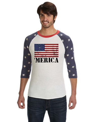 Merica Distressed - Baseball tee