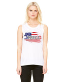 Merica Flag - Womens Muscle