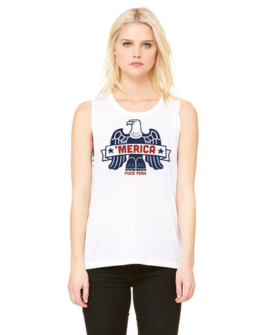 Merica F*** Yea - Womens Muscle