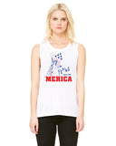 Merica Liberty - Womens Muscle