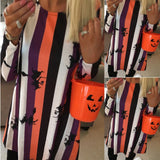 Striped Witch Dress - Halloween