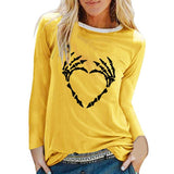 Skeleton Heart Hands - Halloween shirt