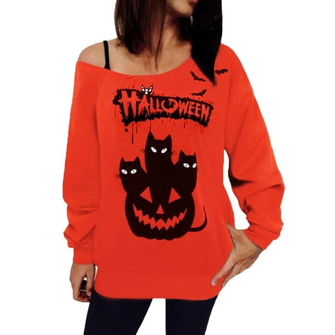 Halloween Off the shoulder slouchy top
