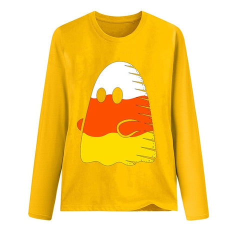 Candy Corn Ghost - Halloween Long sleeve t shirt
