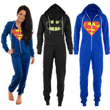 Unisex Superman and Batman Onesie Sleeper