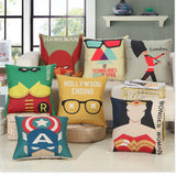 Abstract Marvel and DC Comic Pillows