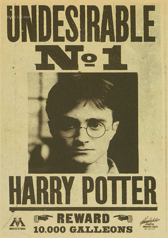 image regarding Harry Potter Wanted Poster Printable named Harry Potter Sought after Posters