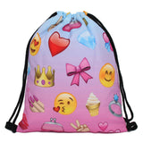 Unicorn Pattern Drawstring Bag