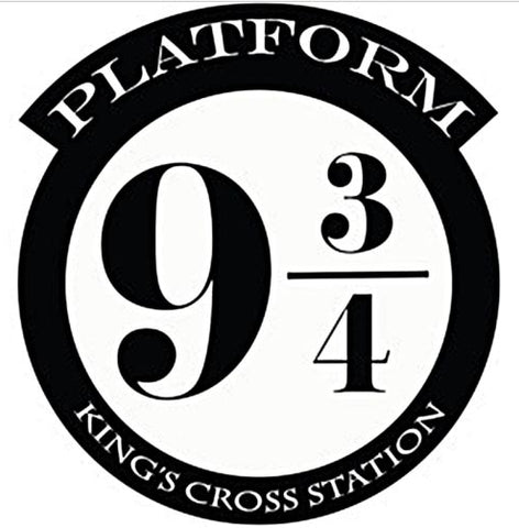 Platform 9 3/4 Kings Cross Vinyl Wall Art Sticker / Decal