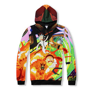Rick and Morty Explosion - full print Hoodie