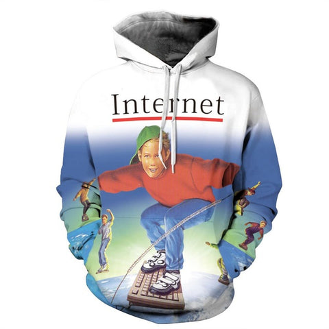 1990 Surf the Internet Hoodie