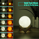 3D Full Moon Lamp LED Night Light 6 sizes