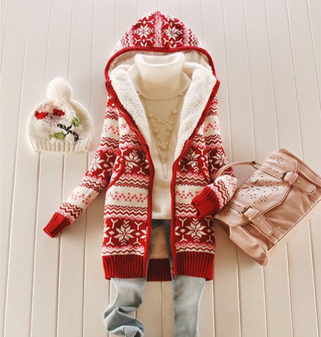 Hooded Christmas Coat