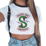 Riverdale - South Side Serpents Crop Top