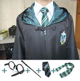 Hogwarts Cosplay Costume Robe Cloak with Tie Scarf - Slytherin